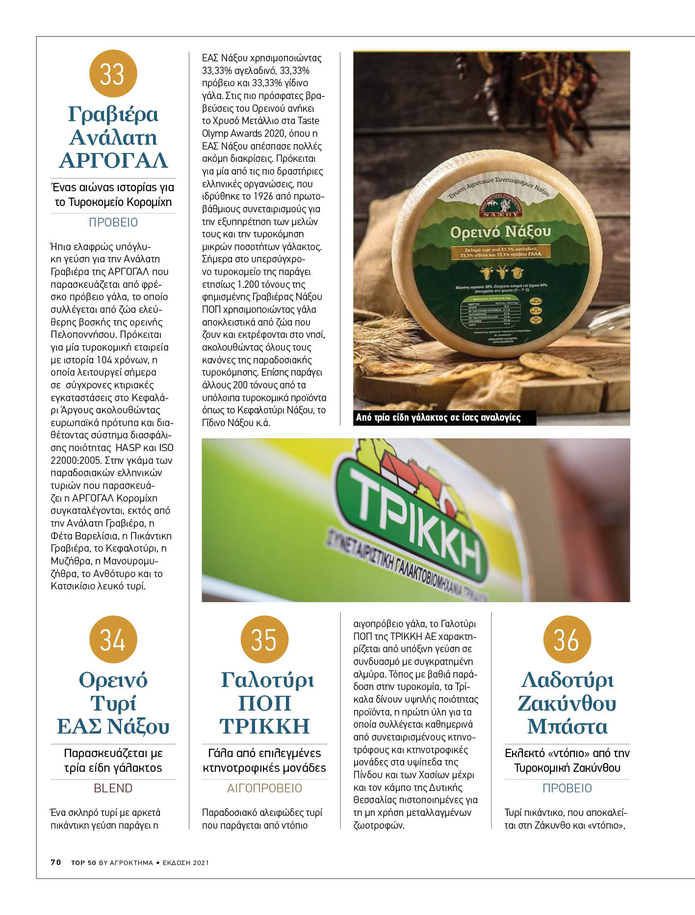 Το Ορεινό της Ε.Α.Σ. Νάξου στα Top 50 ελληνικά τυριά!
