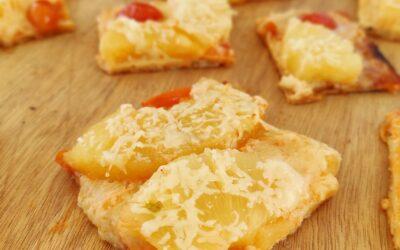 Πίτσα με Γραβιέρα Νάξου Π.Ο.Π. και ανανά, από τον Χρήστο Νέζο!
